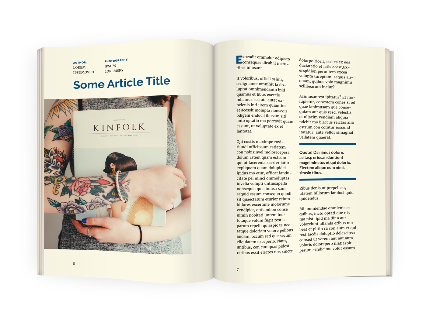 professional A5 InDesign Magazine Template