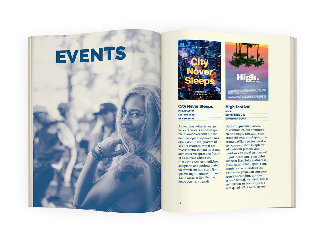 clean simple cool magazine template indesign a5