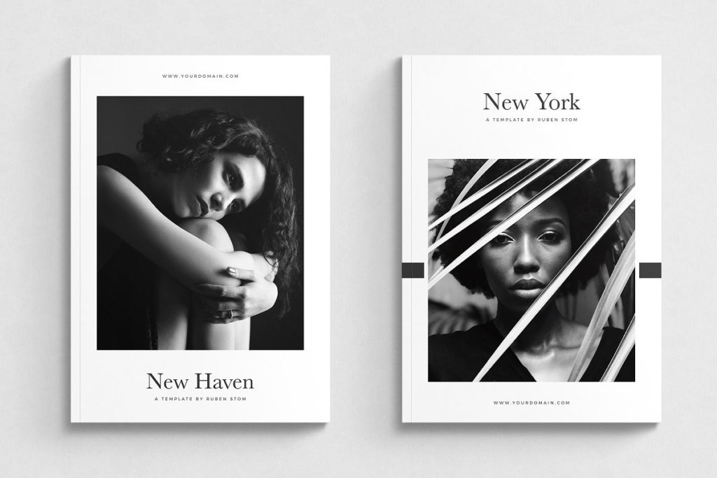 InDesign magazine template download