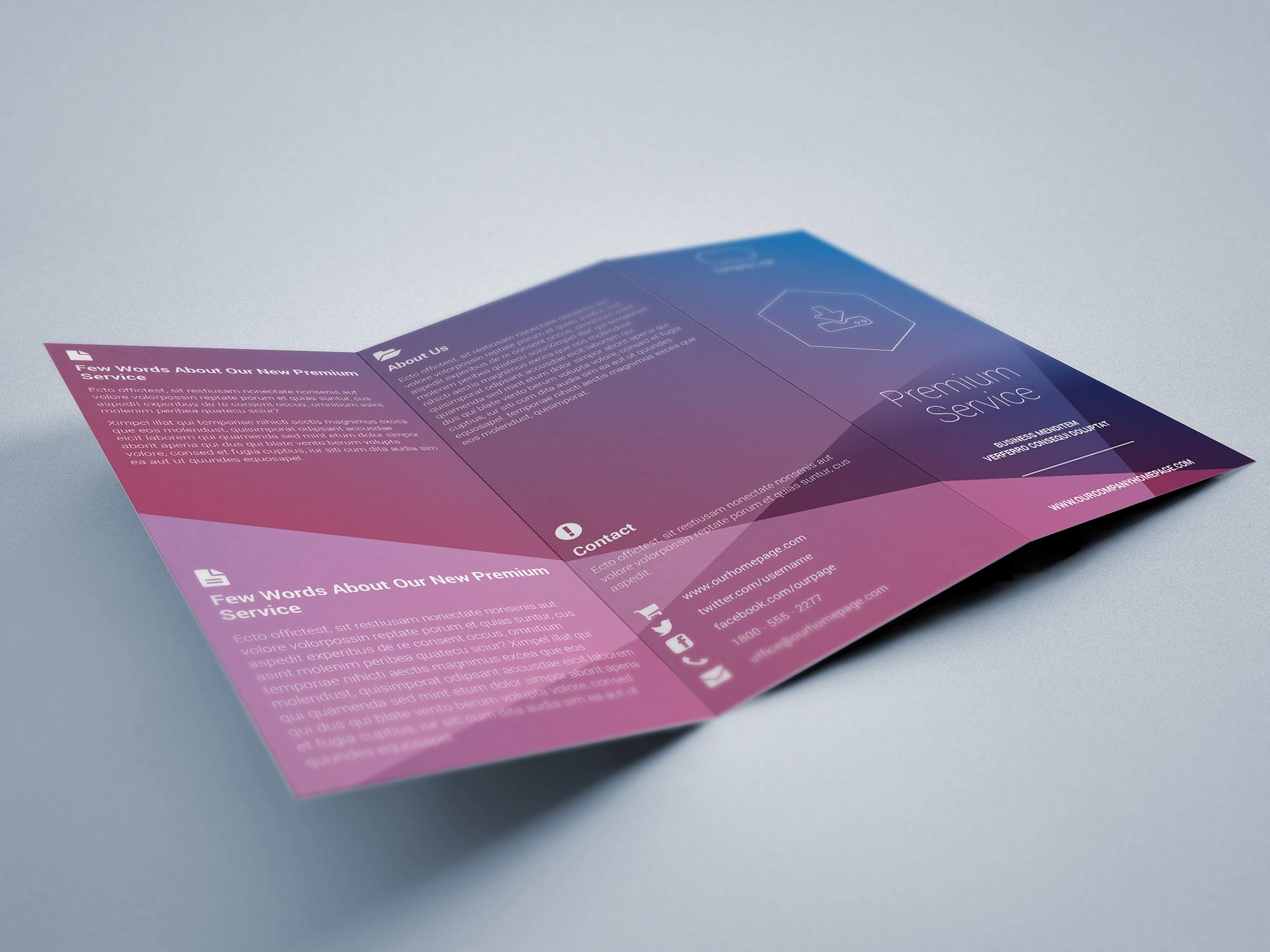 Simple tri fold brochure indiestock for Tri fold brochure template indesign cs6