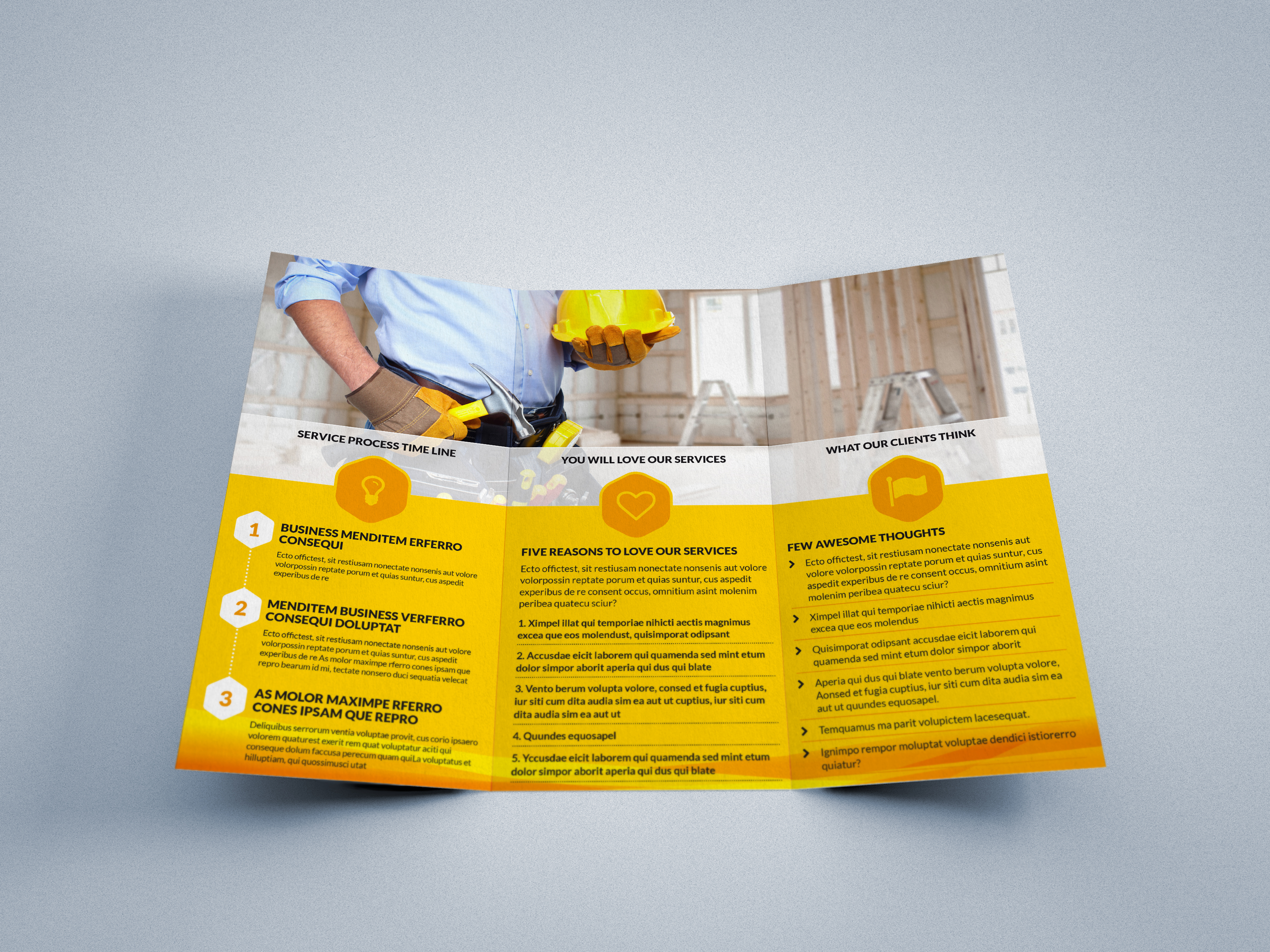 strong - tri-fold brochure