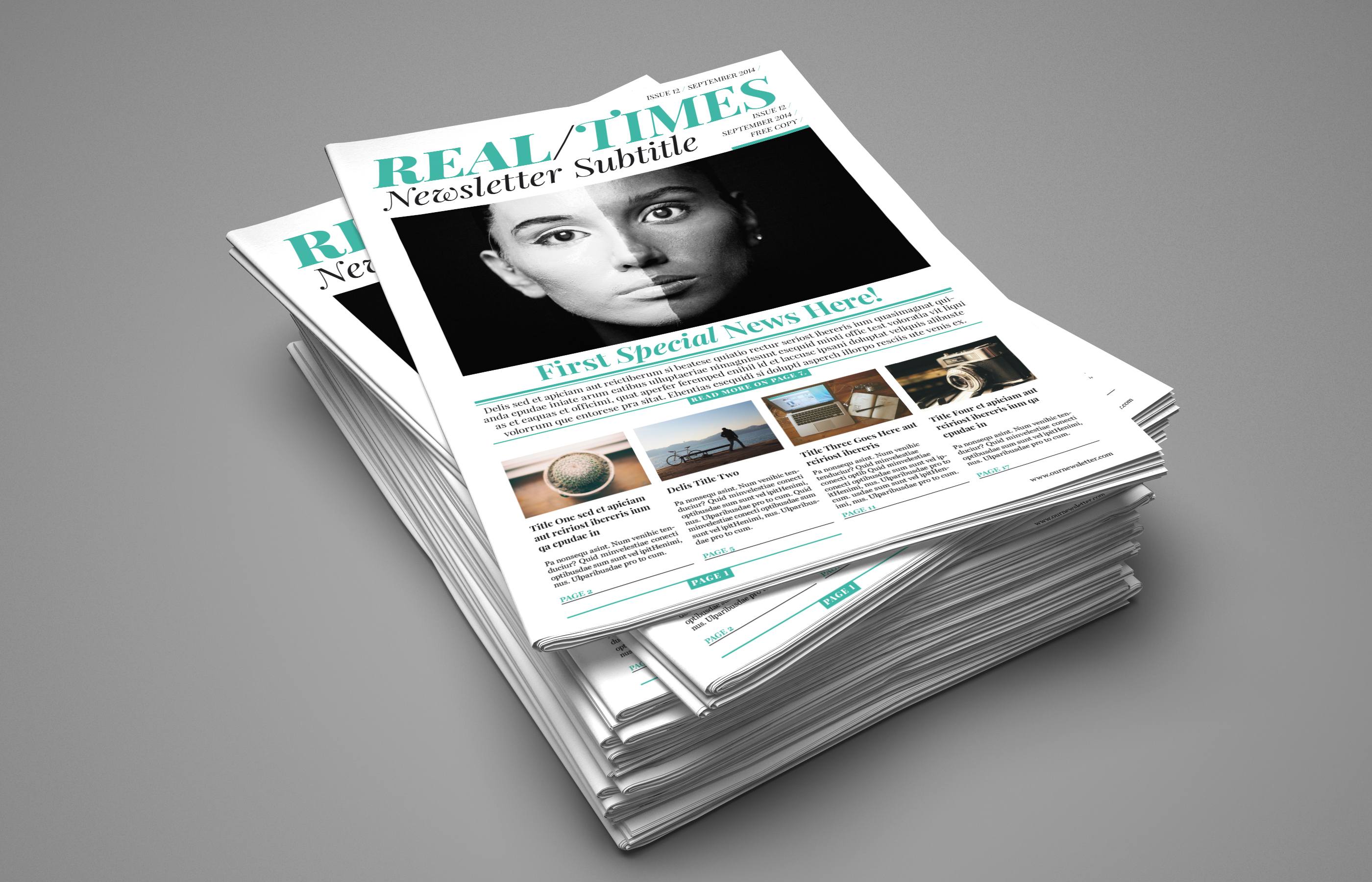 Multi-format Newspaper InDesign template