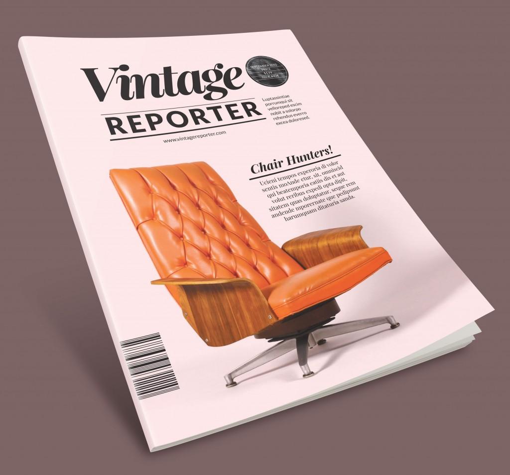 Vintage newsletter InDesign template