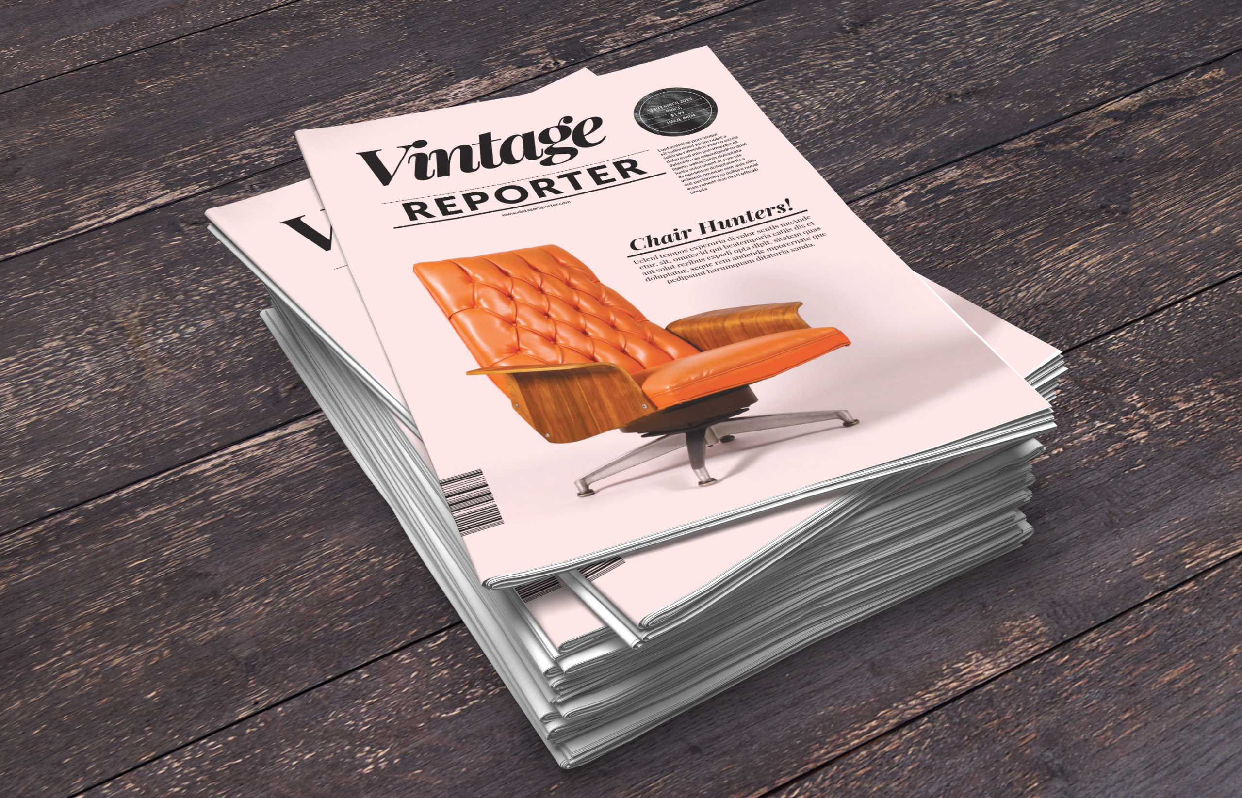 Vintage newsletter InDesign template