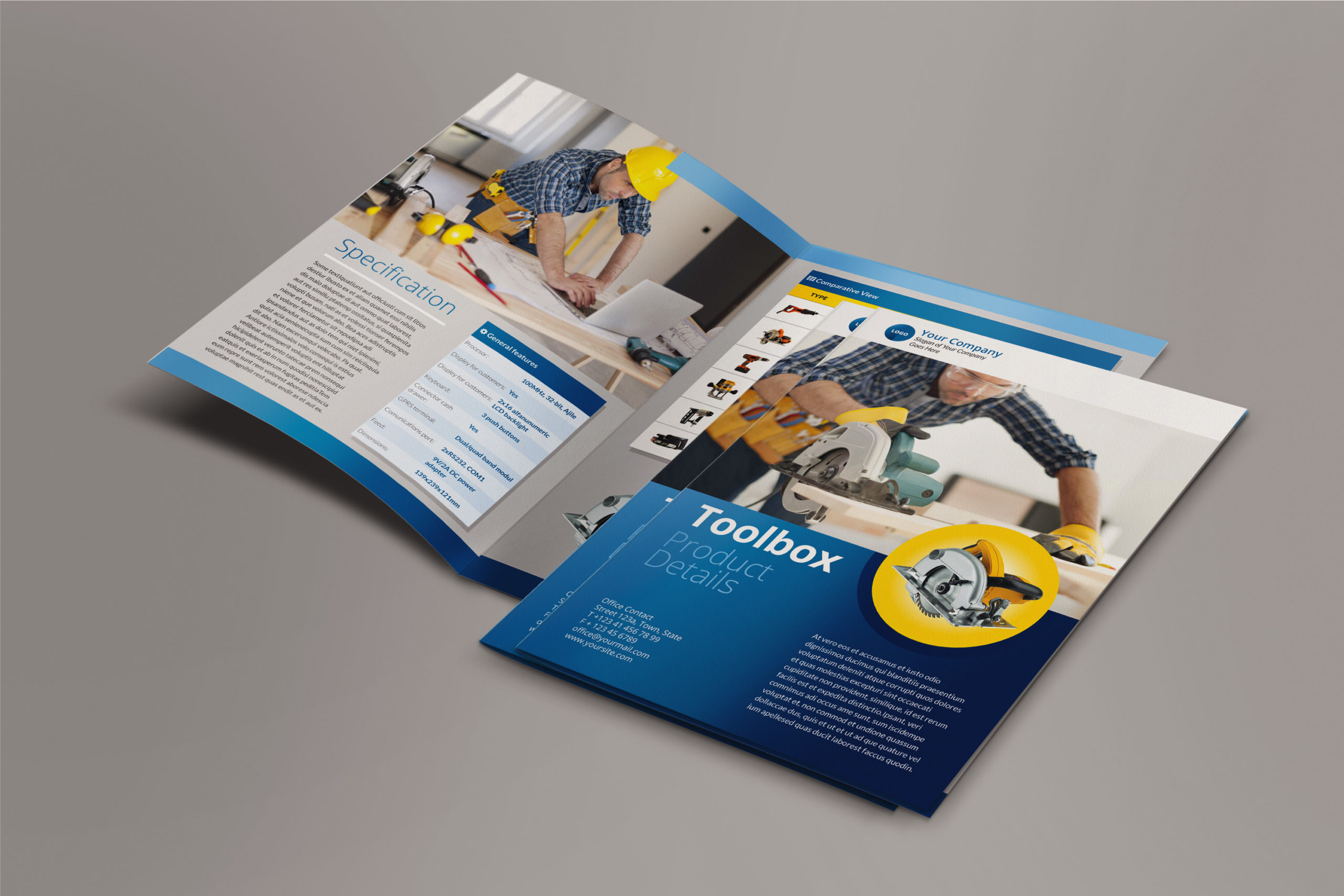Bi-Fold Brochure InDesign Template