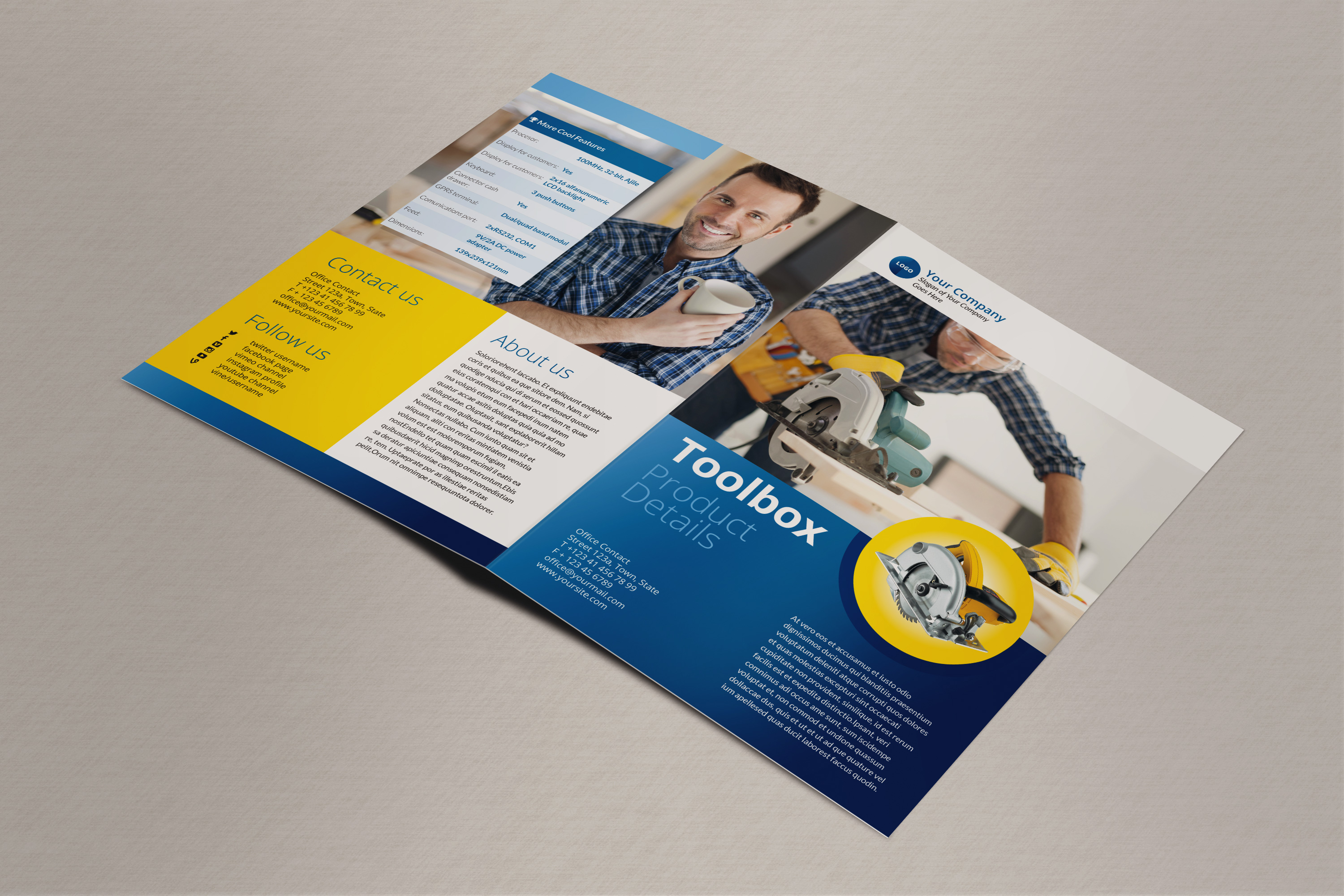 bi fold brochure template indesign bi fold brochure indesign template