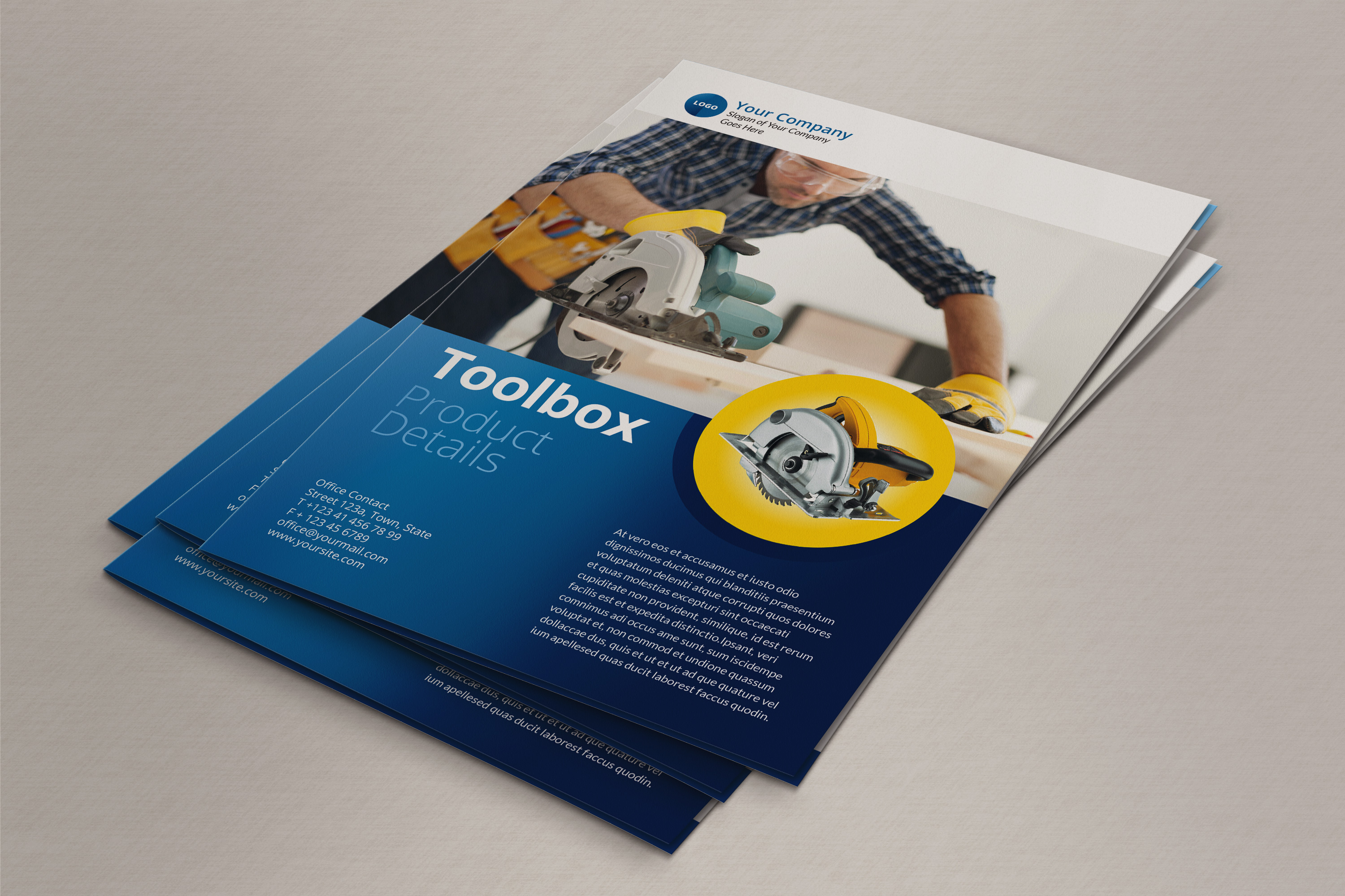 Bi fold brochure indesign template for Bi fold brochure template indesign free