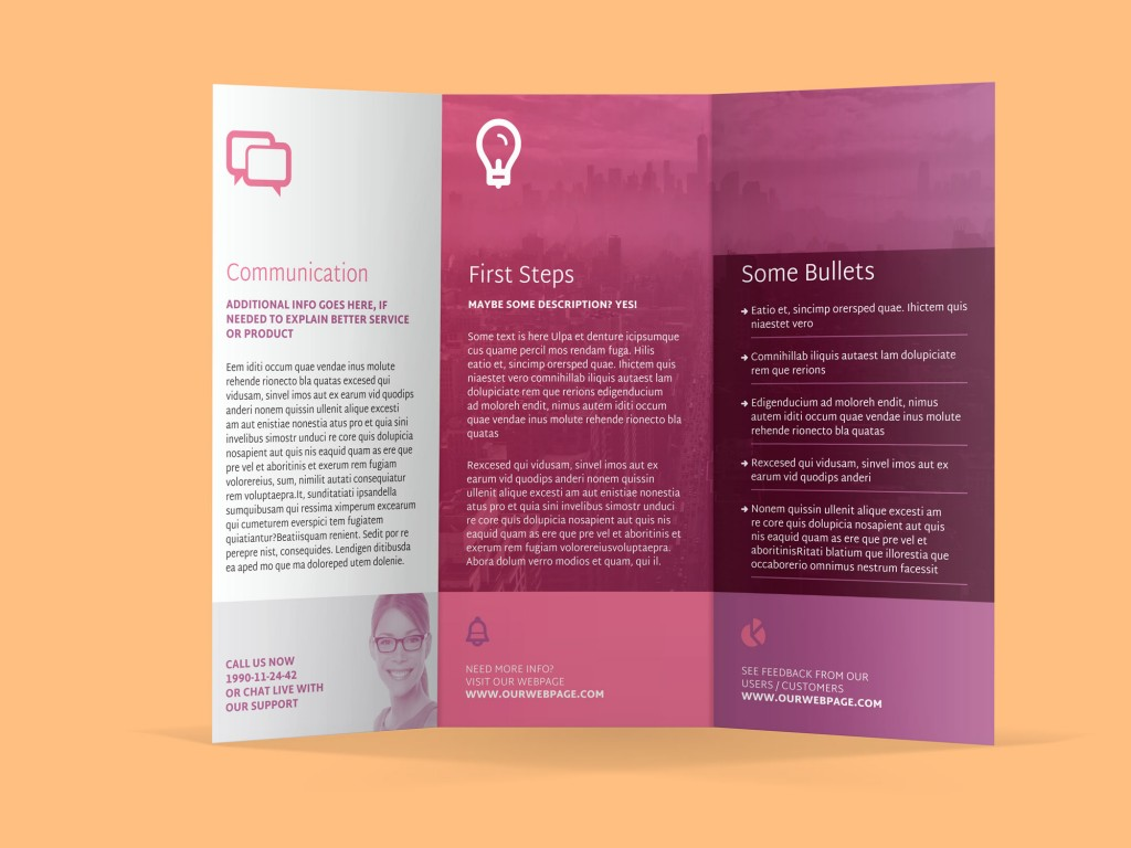 InDesign Tri-Fold Brochure Template