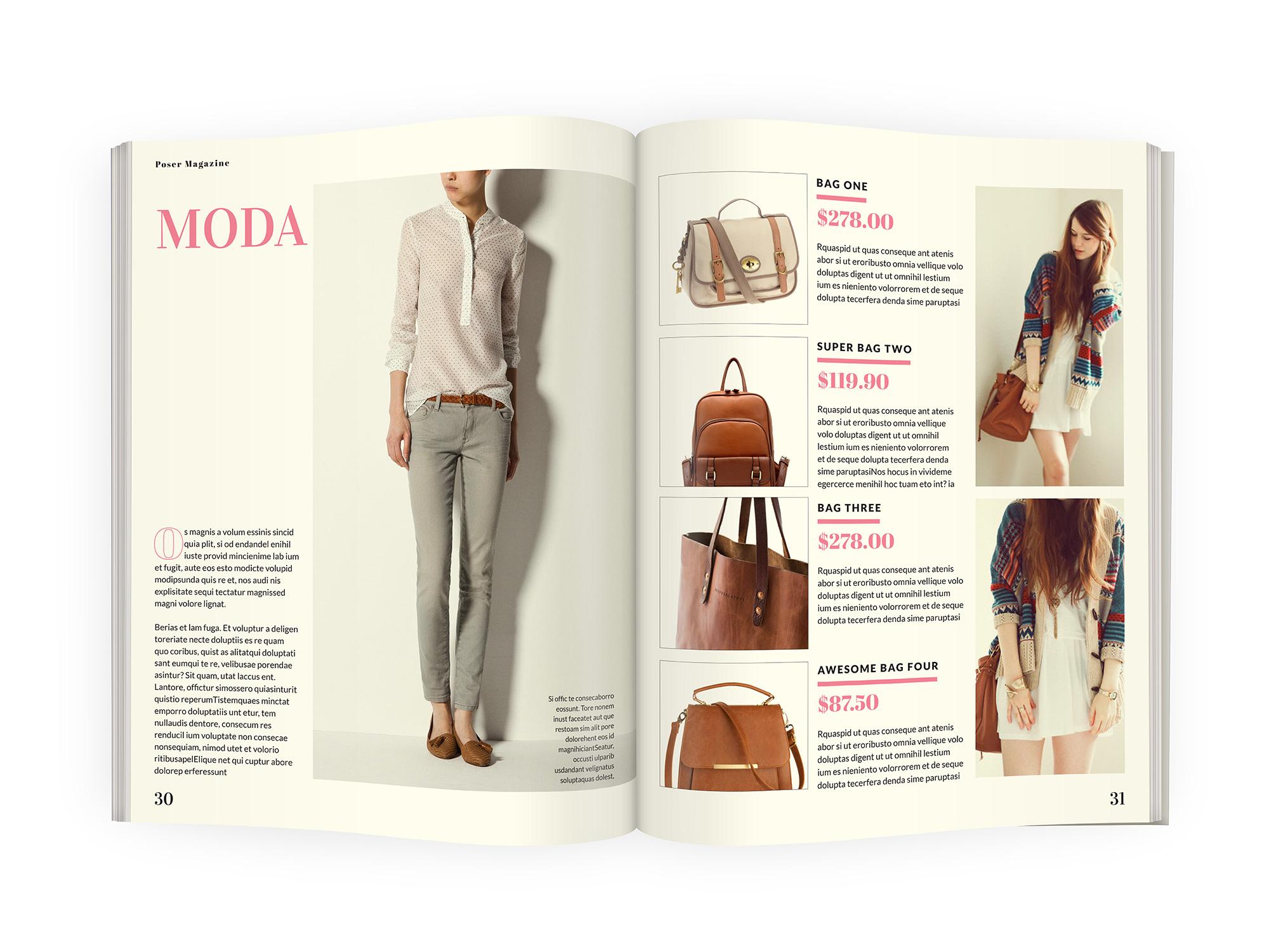 magazine catalog template