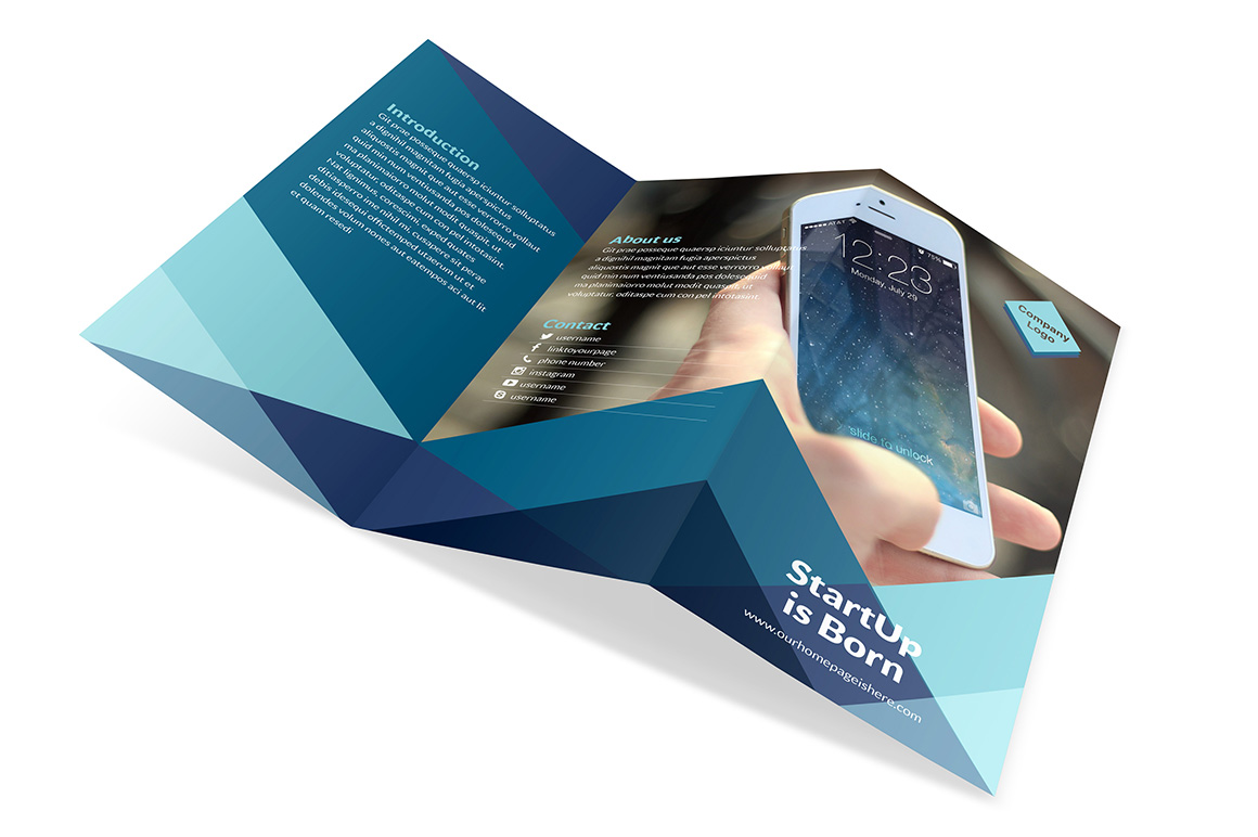Dynamico tri fold brochure indiestock for Tri fold brochure template indesign cs6