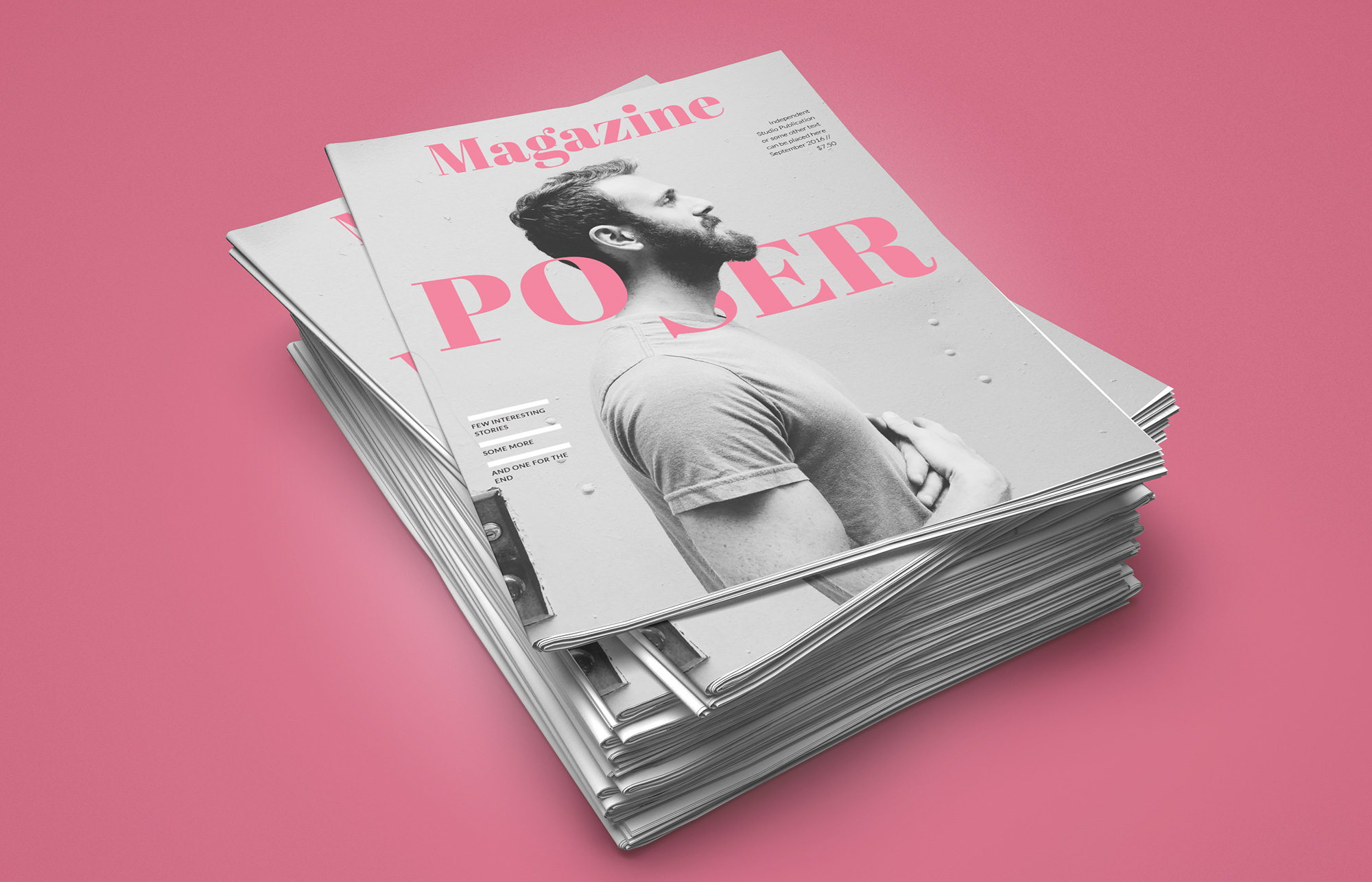 Poser Magazine - InDesign template