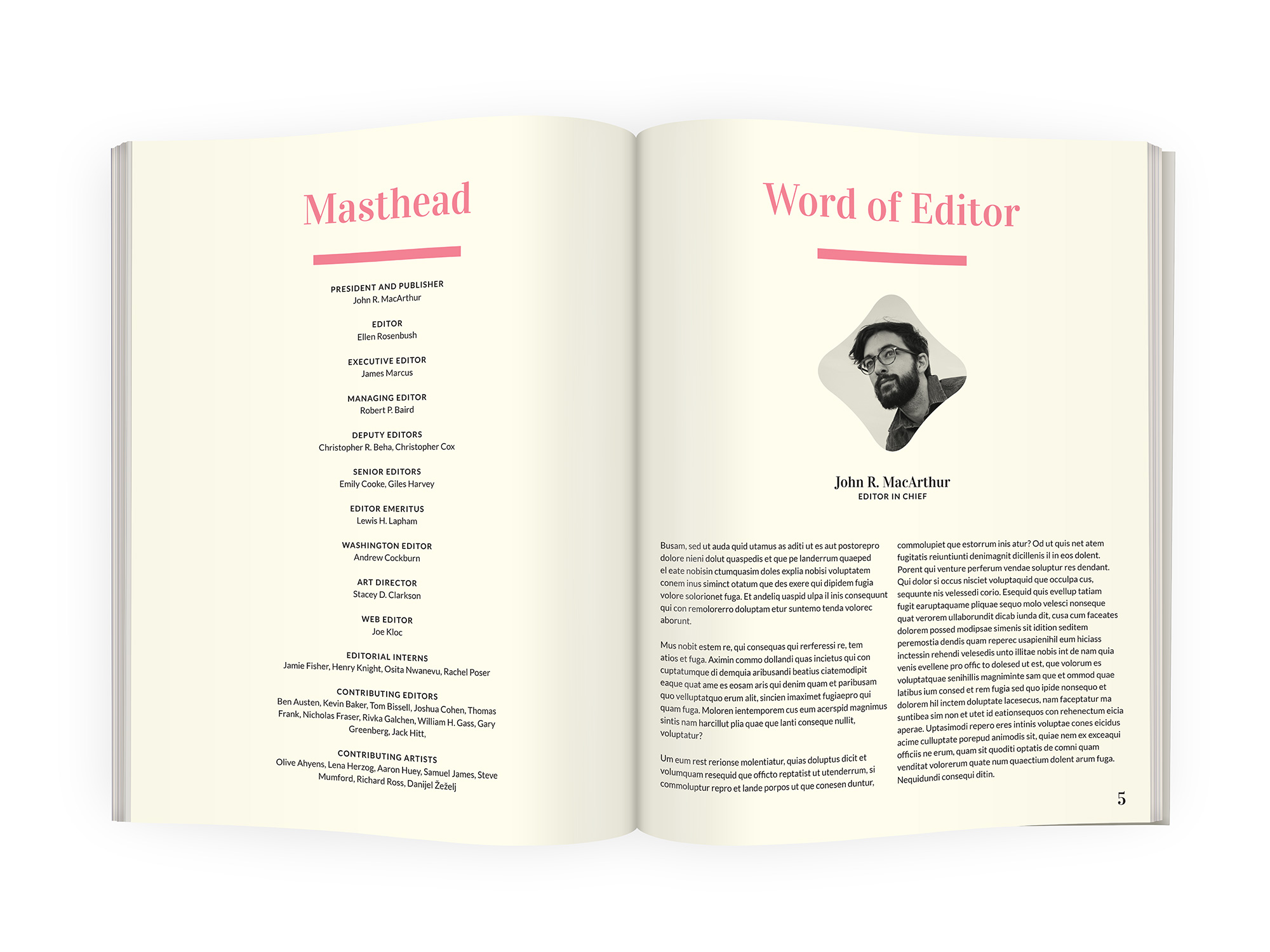 Magazine InDesign template download