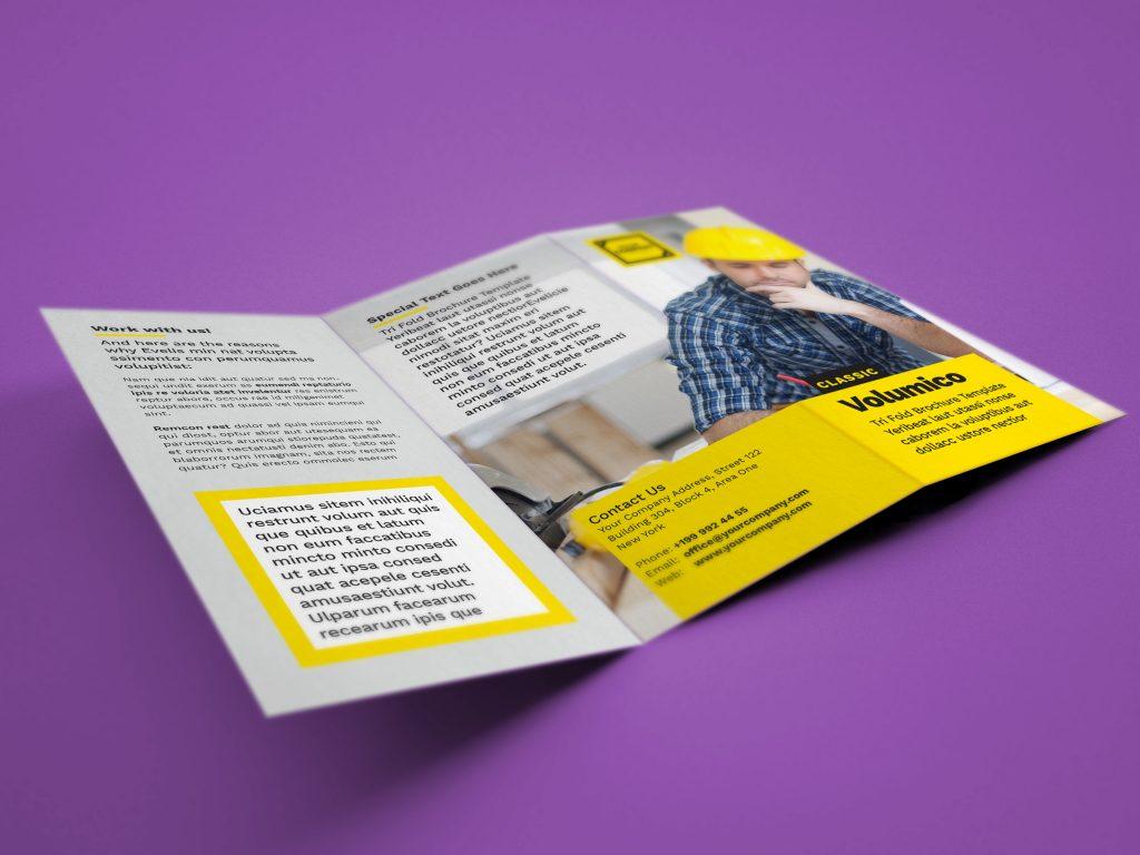 A4 tri fold brochure