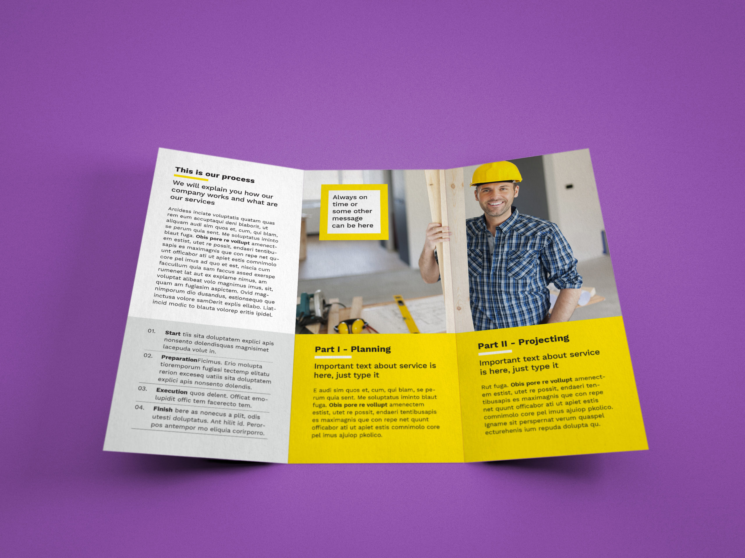 A4 tri fold brochure template