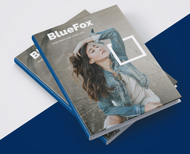 BlueFox - A5 InDesign magazine template